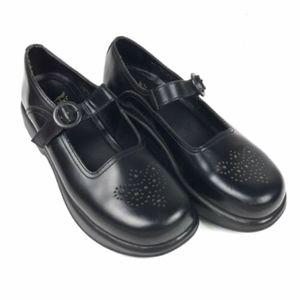 DANSKO Mary Jane Black Buckle Slip On Clog Shoes